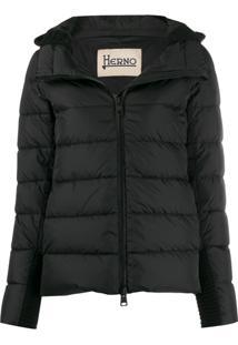 Herno Detachable Hood Puffer Jacket - Preto