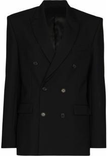 Wardrobe.Nyc Blazer Com Abotoamento Duplo De Lã Virgem - Preto