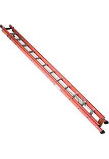 Escada De Fibra De Vidro Wbertolo Modelo Extensível 7,20Mt Efvd-23 Degrau Alumínio Perfil Vazado