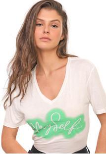 Camiseta Polo Wear Reta My Self Off-White