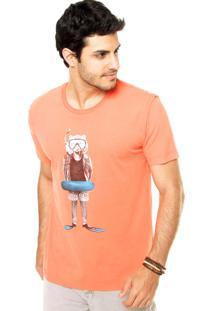 Camiseta Sommer Estampa Laranja