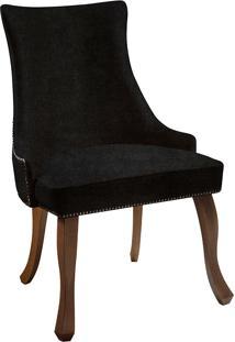Cadeira Luis Xvi T1015 Com Tachas-Daf Mobiliário - Preto