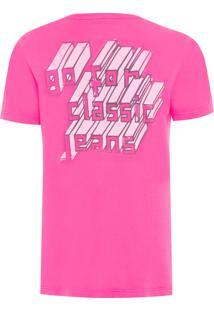 Camiseta Masculina Estampa Costas - Rosa