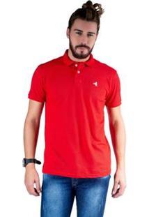 Camisa Polo Hipica Polo Club Estilo Algodão Masculina - Masculino-Vermelho