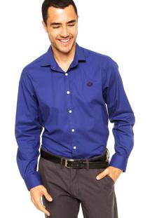 Camisa Forum Bordado Azul