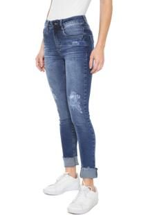 794204698 R$ 99,99. Dafiti Calça Azul Feminina Hering Jeans Desgastes Skinny