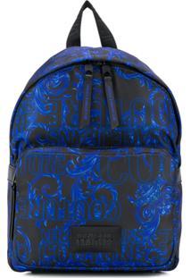 Versace Jeans Barocco Print Small Backpack - Preto