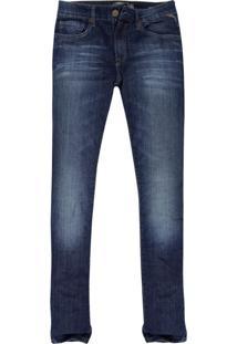 Calça Jeans Khelf Skinny Stretch Denim Azul Marinho