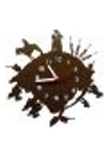 Relógio De Parede Decorativo - Modelo Mundo Gaúcho