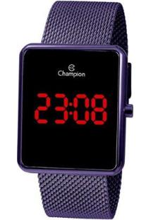 Relógio Champion Feminino Digital Ch40080L - Feminino-Roxo