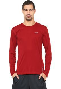 Blusa Oakley Mod Daily Sport Vermelha