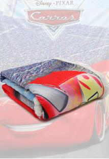 Cobertor Infantil Jolitex Digital Hd Disney Carros Azul/Vermelho