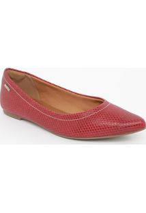 Sapatilha Com Textura Animal- Vermelhamorena Rosa