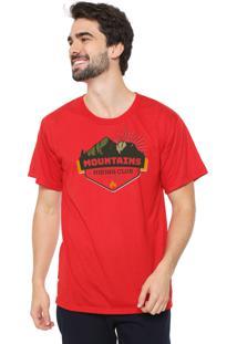 Camiseta Eco Canyon Mountains Vermelho