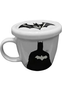 Caneca De Porcelana Branca Com Tampa Batman Urban Home