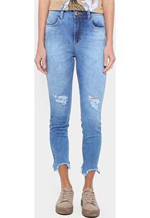 69e4844c1 ... Calça Jeans Skinny Colcci Bia Cintura Alta Feminina - Feminino-Jeans