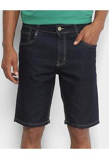 Bermuda Jeans Dimy Brad Masculina - Masculino-Azul Escuro