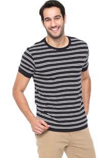 Camiseta Forum Listrada Azul-Marinho/Branca