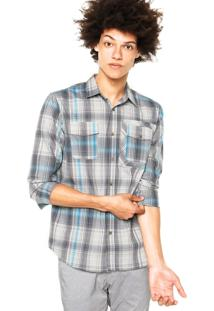Camisa Oakley O-Plaid Ls Woven Azul