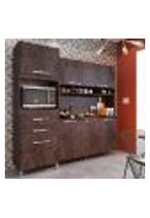 Cozinha Compacta Amanda Plus 7 Pt 2 Gv Marrom Escuro