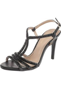 Sandália Dafiti Shoes Strass Preto