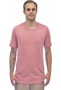 Camiseta Blanks Co Importada Tri-Blend Redhtr Vermelho