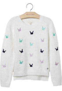 Blusa Le Lis Petit Butterfly Off White Feminina (Dust, 1)