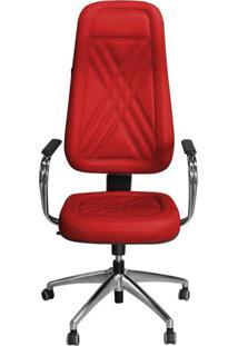 Cadeira Pethiflex Pp-01Gcbc Giratória Couro Vermelho