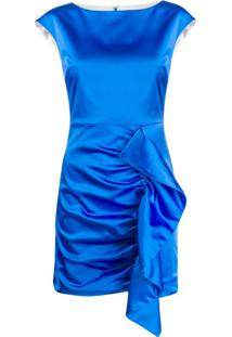 P.A.R.O.S.H. Ruffled Evening Dress - Azul