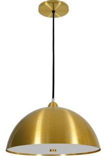 Pendente Alumínio Com Difusor Em Acrílico 1803 Volare Dourado