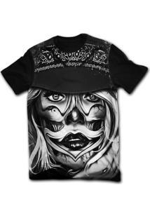 Camiseta Manga Curta Stompy Tattoo 56 Preto