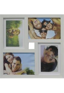 Painel De Fotos Fine 34X34 2 Fotos 10X15 E 2 Fotos 13X18 Branco Kapos