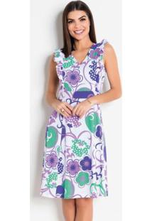 0829a1e3c R$ 49,99. Posthaus Vestido Floral Com Babados Moda Evangélica