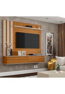 Painel Para Tv Até 46 Polegadas Trend Cumaru E Off White
