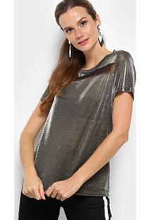 Camiseta Triton Metalizada Feminina - Feminino-Cinza