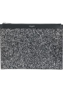 Saint Laurent Capa Para Tablet East/West Saint Laurent Paris - Preto