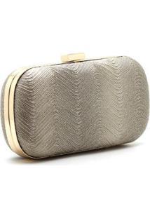 Bolsa Royalz Clutch Moscou - Feminino-Dourado