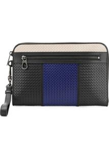 Bottega Veneta Intrecciato Weave Clutch Bag - Preto
