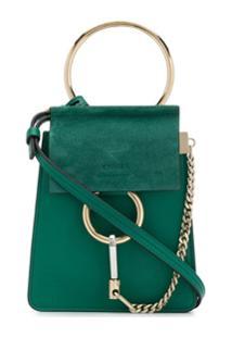 Chloé Bolsa Faye Bracelet Pequena De Couro - Verde