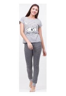Pijama Com Estampa Snoopy