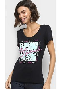 de43a7a0768 ... Camiseta Coca-Cola Estampada Feminina - Feminino-Preto