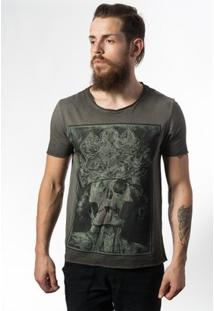 Camiseta Estonada Skull Lab King Skull - Masculino-Grafite