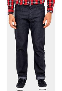 Calça Jeans Ellus Straight Super Escura Masculina - Masculino