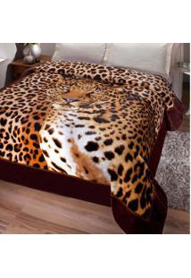 Cobertor Casal Kyor Plus Soft 1 Peça Microfibra Jolitex Marrom
