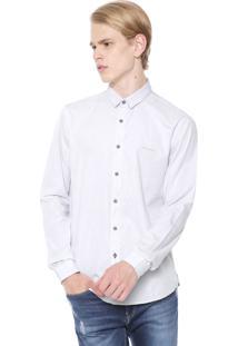 Camisa Calvin Klein Jeans Slim Coqueiro Cinza