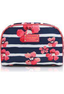Necessaire Retangular Floral Jacki Design Abc17551 Azul