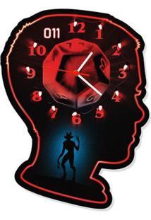 Relógio De Parede Eleven Geek10 - Preto