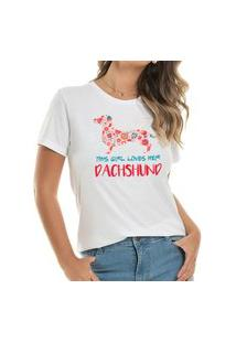 T-Shirt Loves Dachshund Flowers