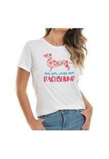 T-Shirt Loves Dachshund Flowers