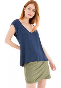 Camiseta Lis 41Onze Azul Marinho